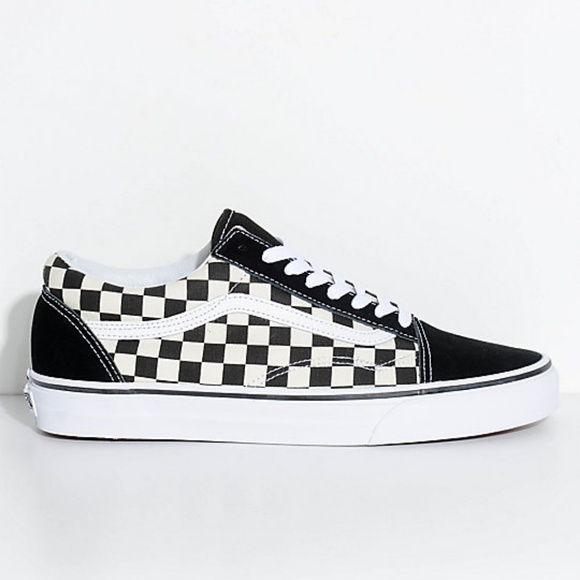 1b2dfdc1ee2 Vans Old Skool Black   White Checkered Skate Shoes.  M 5be34d21aaa5b8f45c3fbd7d